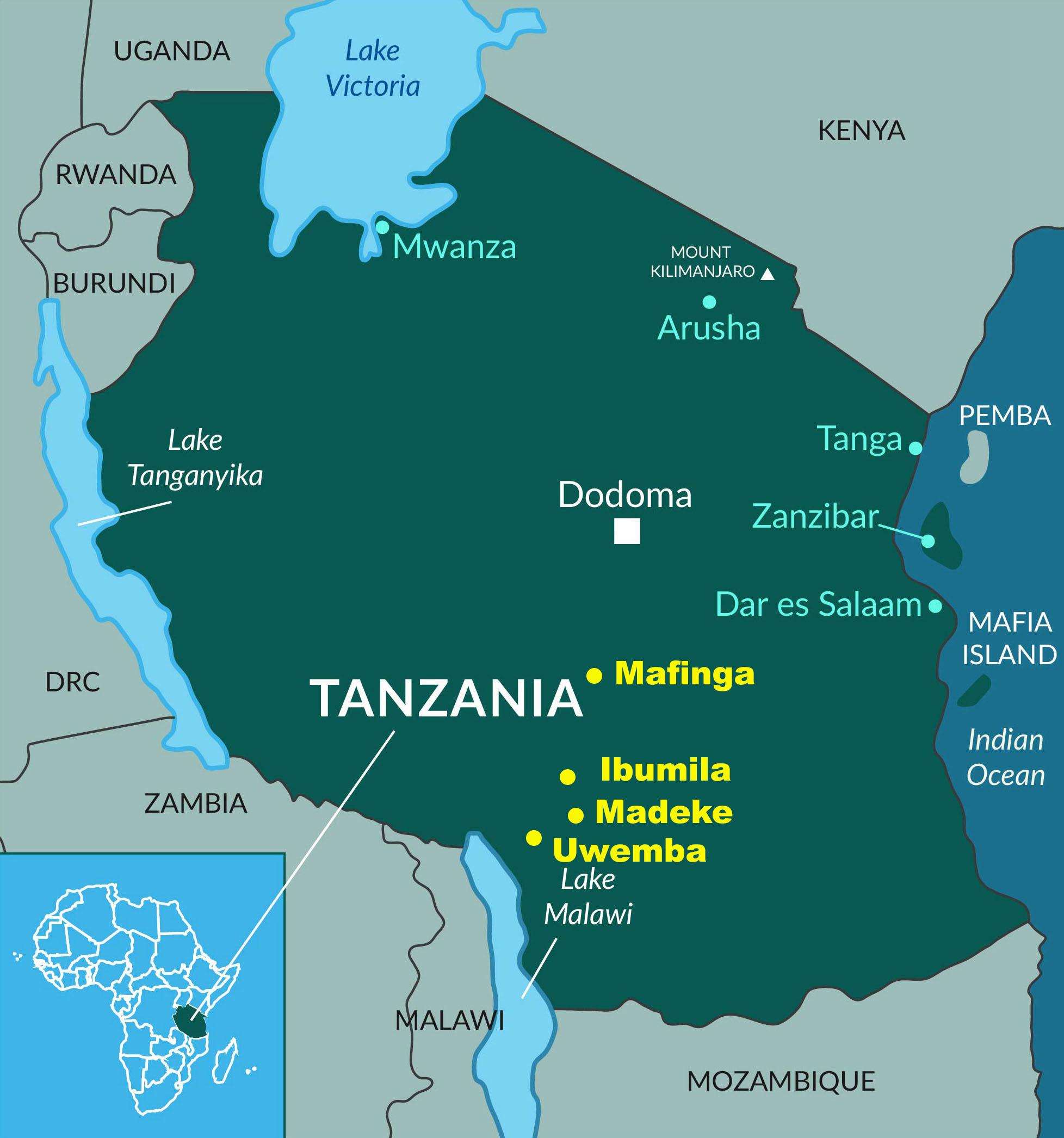 Upendo Family Centers TANZANIA ORPHANS UPENDO COMMUNITY - Where is tanzania located
